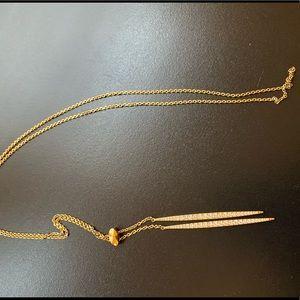 Michael Kors Gold Necklace double pendant